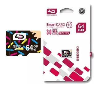 10 Cartão 64gb Micro Sdxc I Classe 10 80m/s Ld - Promoção