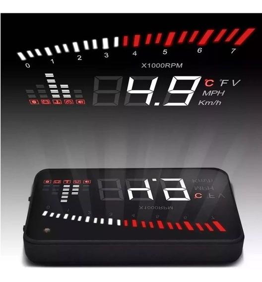 Velocímetro Digital Hud Projetor Carro Vidro Parabrisa Obd2