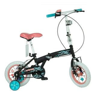 Bicicleta Plegable Bia 7150-t Rodado 12 Original Disney Lh