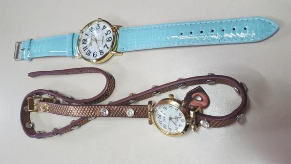 Relógio De Pulso Feminino - Kit 02 Un ($$ Só Hoje $$)