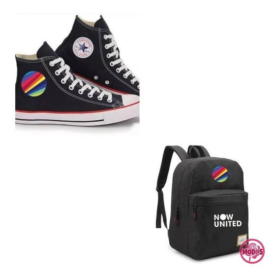 Tênis All Star + Mochila Escolar Now United - Kit Pop Musica