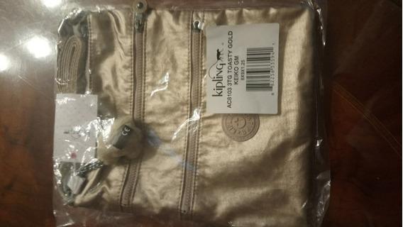 Cartera Kipling - Usa - Modelo Toasty Gold 21x22 Cms