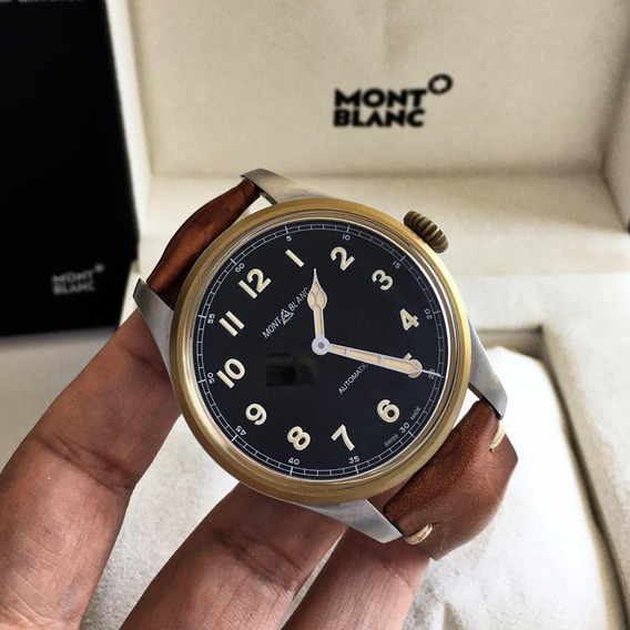 Montblanc 1858 Pilot Bronze 44mm 2019 Completo