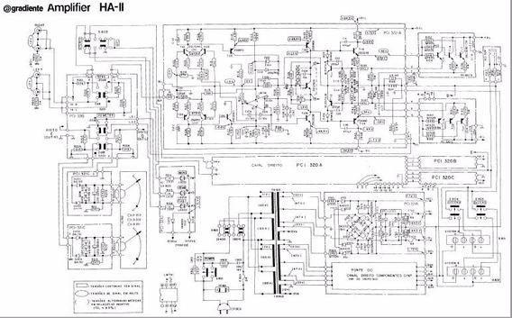 Esquema Eletrônico Do Amplificador Ha-ii Gradiente - Em Pdf