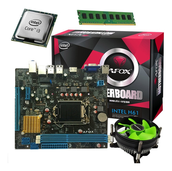 Kit Upgrade Gamer Intel I3 Lga 1155 / Afox H61 / 4gb Ddr3