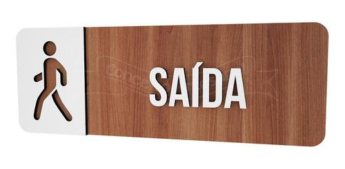 Imagem 1 de 3 de Placa Sinalização Saida Hotel Empresa Bar Lounge Cafeteria