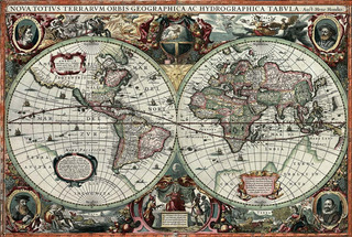 Rompecabezas Puzzle Tomax Mapamundi Antiguo 1000 Piezas