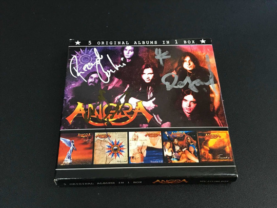 Angra - Box 05 Cds Autografado