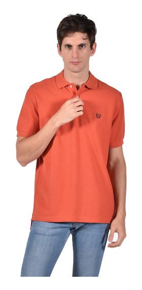 Polo Classic Fit Chaps Hombre 750720402-34oz Naranja