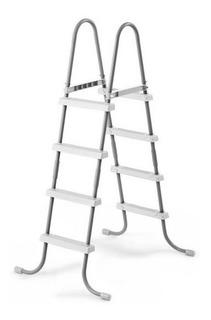 Escalera De 48in (122cm) Sencilla Plata Para Alberca Intex
