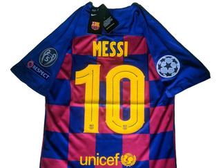 Jersey Barcelona Messi 10, 2020, Champions O Liga.