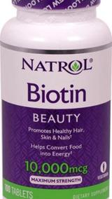 Biotina 10,000mcg 100tablets Natrol - Importado Original Eua