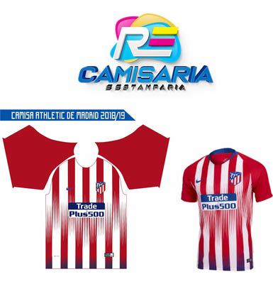 Template Camisa Atleico De Madri 2018 / 19