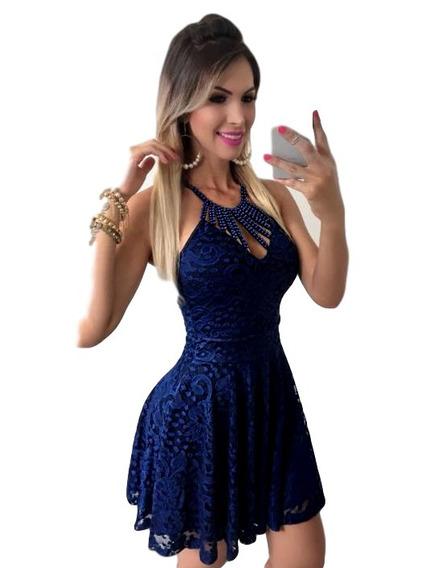 Vestido Curto De Festa Renda Rodado Lindo #vlm530