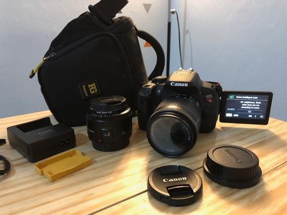 Câmera Dslr Canon Eos Rebel T5i + Lentes E Acessórios