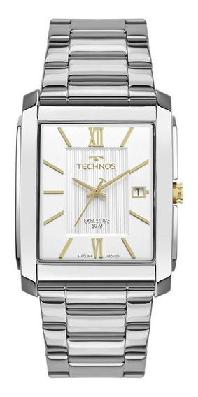 Relógio Technos Aço Masculino 2115mwx/1k Retangular