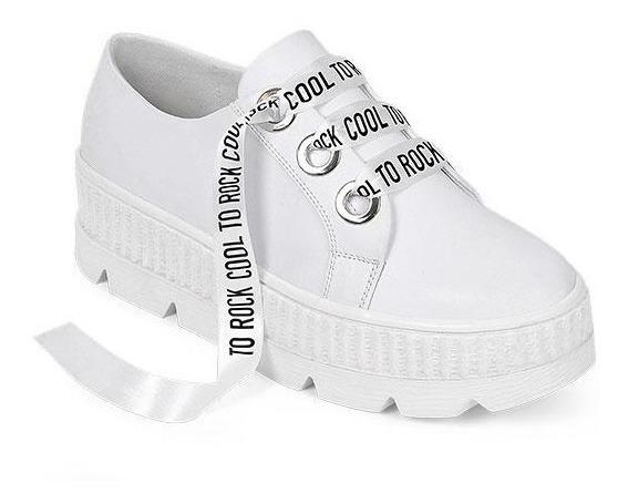 Tenis Sneakers Para Dama Blancos Lisos 015905