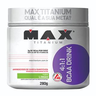 Bcaa Drink 4:1:1 280g Max Titanium Melhor Custo X Beneífico
