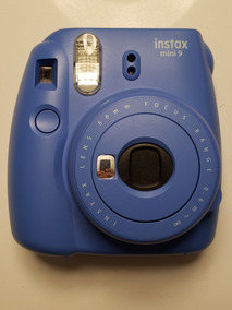Camera Instantânea Instax Mini 9 Azul Semi Nova