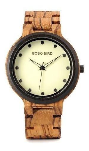 Relógio Pulso Unissex Bambu Bobo Bird Pulseira Em Madeira