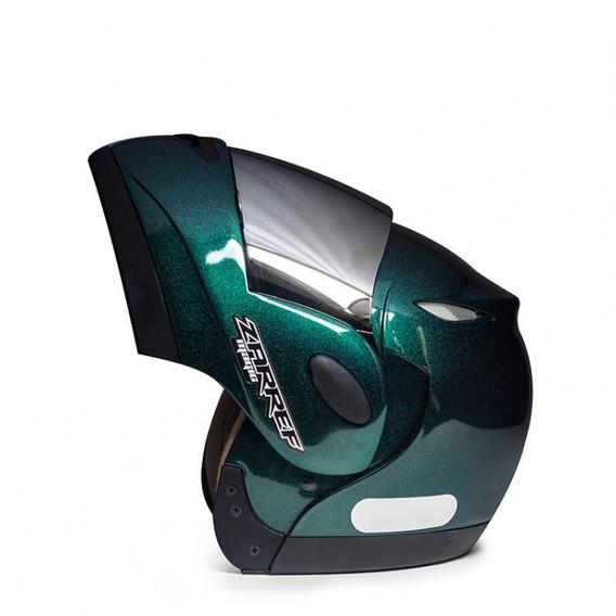 Capacete De Moto Robocop Zarref Verde