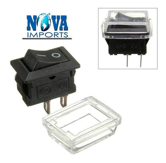 15x Mini Chave Tic Tac Quadrada 2 Polos Proteção Para Água