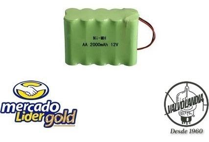 Bateria 12v 2000mah Ni-mh Aa Com 10 Celulas