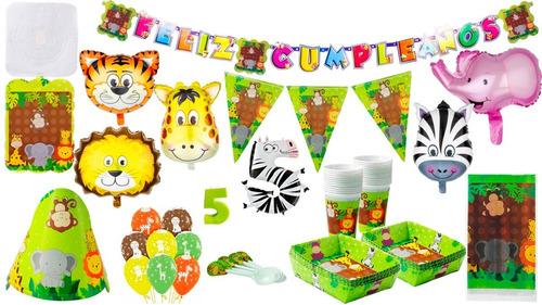 Kit Decoración Fiesta Infantil Selva Safari + Globos