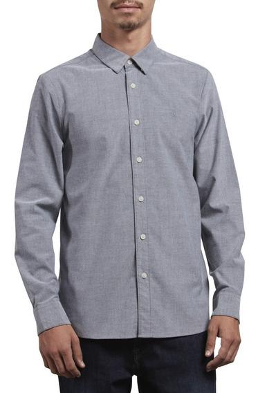 Camisa Volcom Hombre Oxford Stretch L/s
