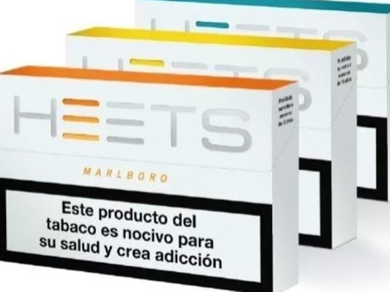 Heets Iqos Amber Todo Sabor Cigarrillo Electrico Pack X200
