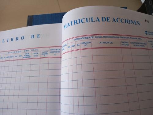 Libros Contables/societarios/administracion A Nivel Nacional
