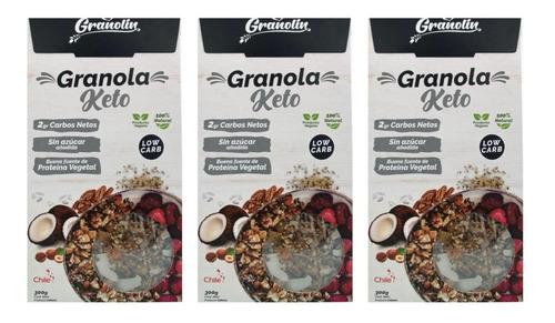 Granola 300g Pack Keto Tipo Muesli  Aditivos O Preservantes