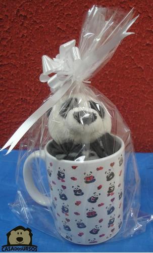 Imagem 1 de 8 de Caneca Cute Porcelana Com Ursinho Panda 15cm Presente Top