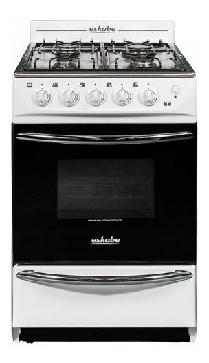 Cocina Eskabe E3 Bcx G/nat Blanca 52 Cms Encendido En Horno