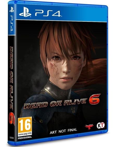 Jogo Playstation 4 Dead Or Alive 6 - Novo - Mídia Física