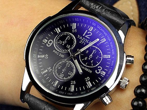 Relógio Masculino Yazole Original Lote 6 Unidade+brinde