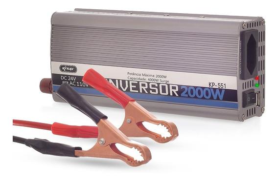 Inversor De Tensao 24v 110v 2000w Conversor Transformador