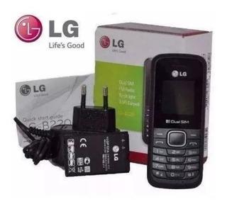 Celular Desbloqueado Lg B220 Preto 2chips Com Nfe