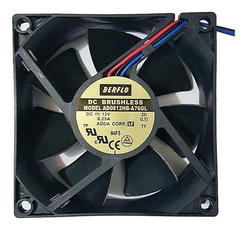 Imagem 1 de 6 de Cooler Micro Ventilador 80x80x25mm 12v 80x80 Rolamento Duplo