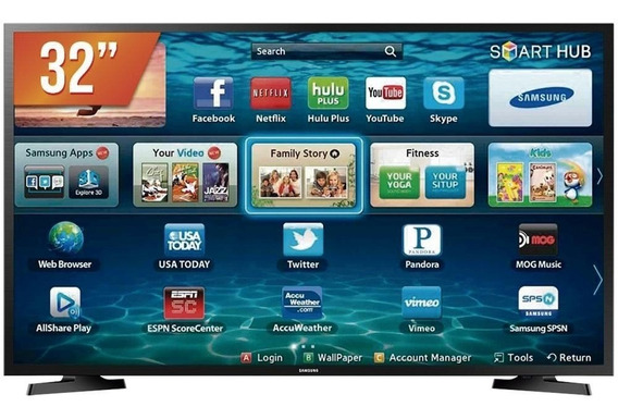 Smart Tv Led 32`` Hd Samsung 2 Hdmi 1 Usb Wi-fi - Bivolts