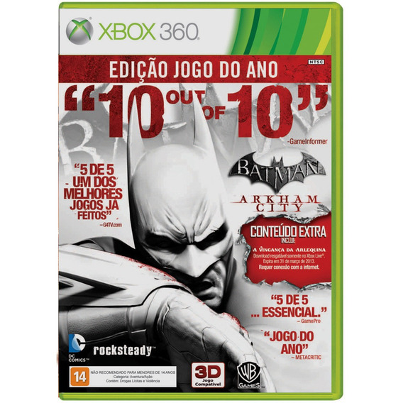 Batman Arkham City Game Of The Year Edition Xbox360 Original