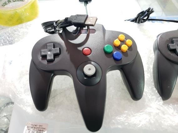 Controle Nintendo N64 Usb Preto