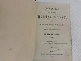 Biblia Em Alemão Velho E Novo Testamento 1899-leia Descrição