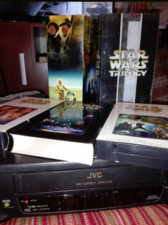 Star Wars Trilogy Vhs Digitalizados + Videograbadora Jvc