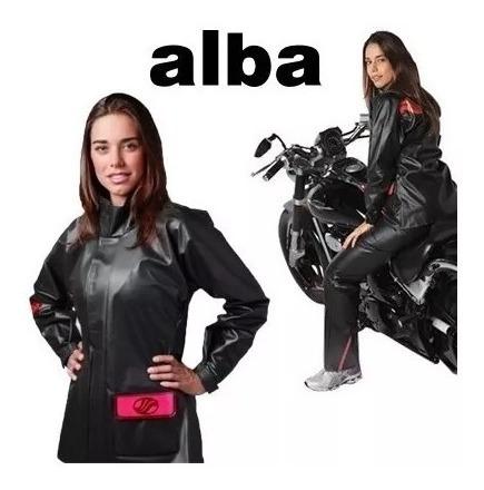 Capa Chuva Alba Europa Feminina 100% Impermeável Motoqueiro