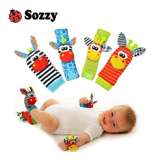 Bebê Kit Sozzy Pulseiras Chocalhos E Meias Importado