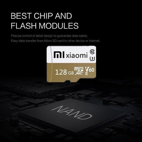 Cartão De De Memória Mini Sd Xiaomi Plus 128gb Classe 10 V60