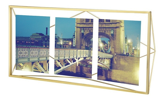 Porta Retrato Prisma Multi 10x15 Dourado Umbra Umbra