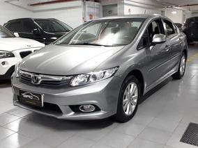 Honda Civic Lxs 1.8 Automático Flex Top 2014 Cinza Muitonovo