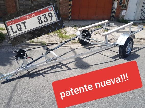 Trailer Para Semirrigido Lancha Moto De Agua Bote Patentable